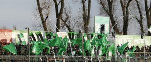 Lübeck, 19. November 2016 Sport, Fussball, Saison 2016/2017, Regionalliga Nord, 17. Spieltag, VfB Lübeck - BSV Rehden: Choreographie des Anhanges des VfB Lübeck (Immer weiter VfB)  © objectivo / Marcel Jahnke, www.objectivo.net, info@objectivo.net +++ Abdruck oder Veröffentlichung nur gegen Honorar, namentliche Nennung und Belegexemplar +++