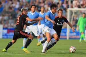 HSV gegen Lazio Rom mit Miroslav Klose