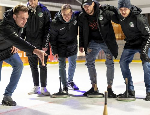 Aufs Glatteis geführt: VfBer nahmen am Eisstockschießen teil