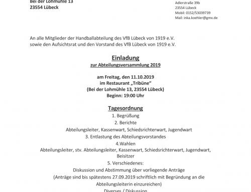 Abteilungsversammlung 2019