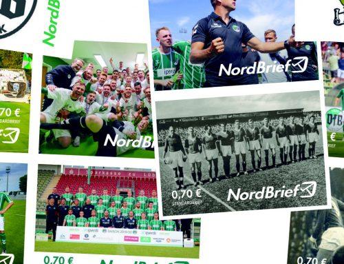 Briefmarken in grün und weiß: VfB und NordBrief starten Kooperation
