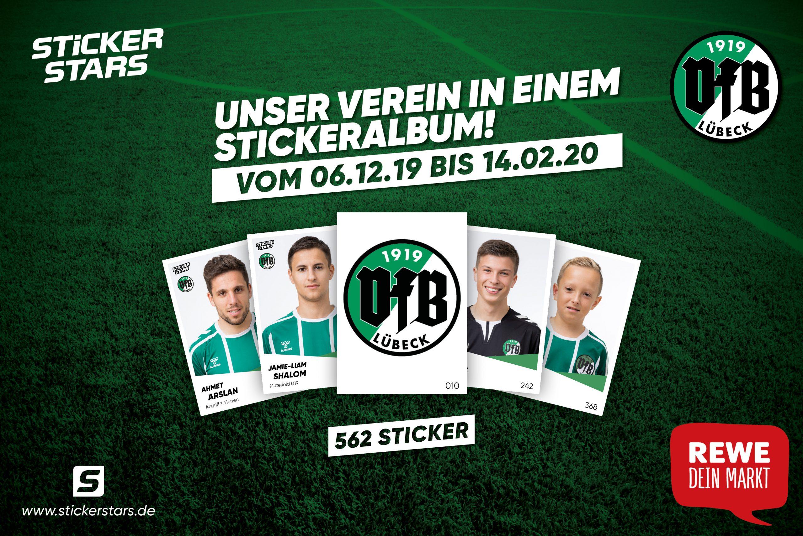 VFB Lübeck Aufkleber Sticker 40 Stück Neu
