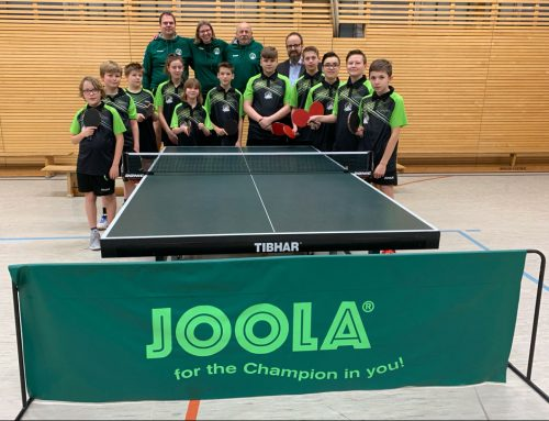Sparkasse zu Lübeck unterstützt Tischtennis-Nachwuchs